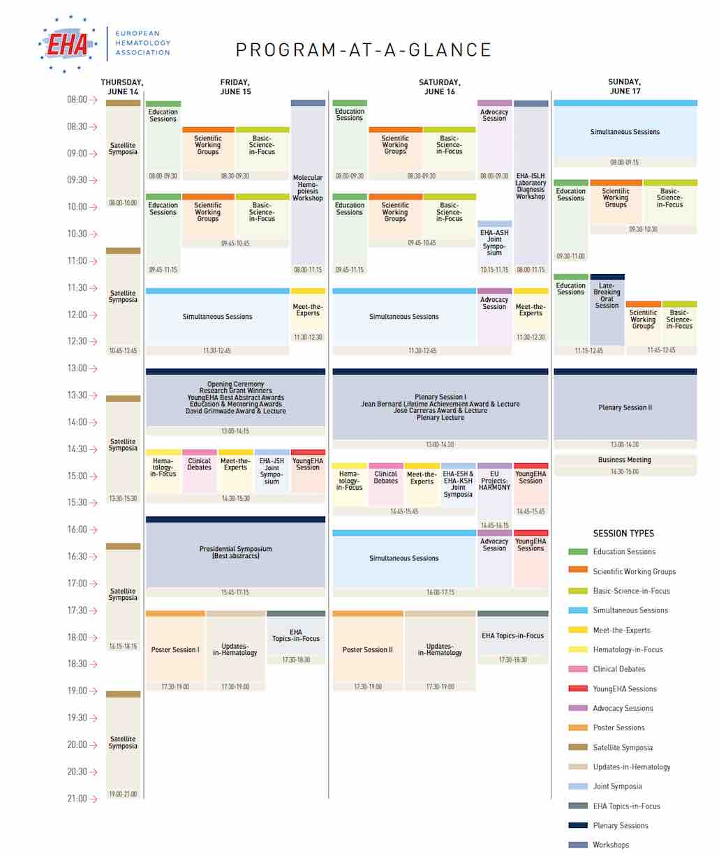 EHA23 PROGRAM AT A GLANCE May 15