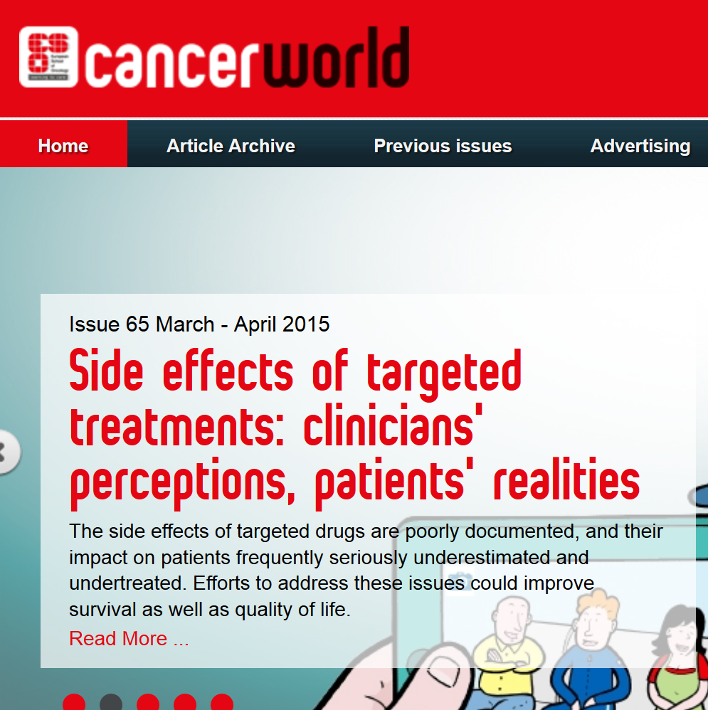 2015-03-31 13 10 04-Home - Cancer World - Shaping the future of cancer care